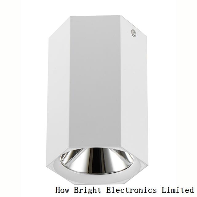 Hexagon White 15W LED Ceiling Light Surface Mounted LED Light COB Downlight