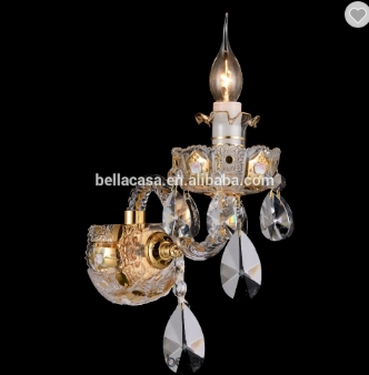 Lustre New Design Classic Empire Gold Color Wall Scone For Bedroom
