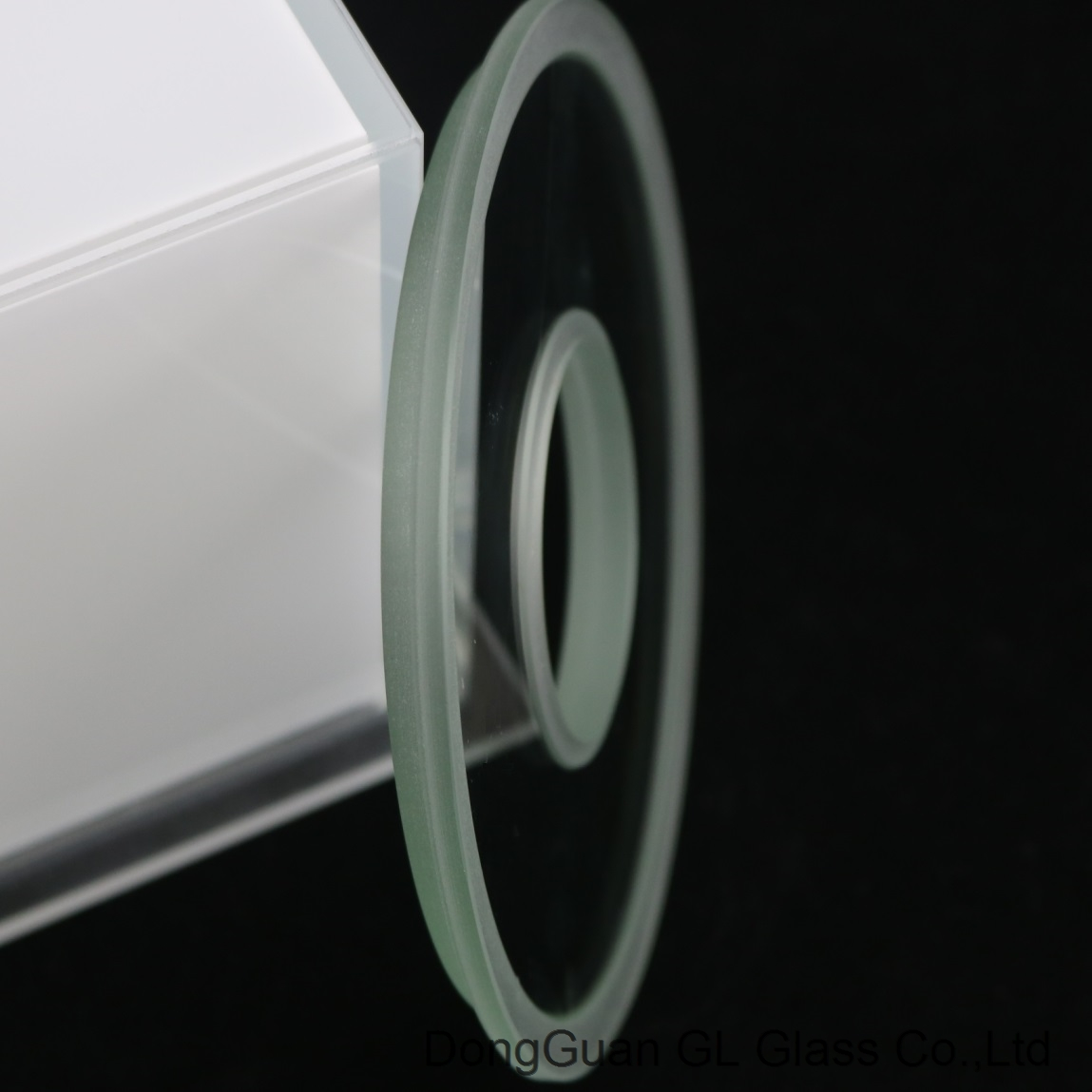 round step led glass with tempered