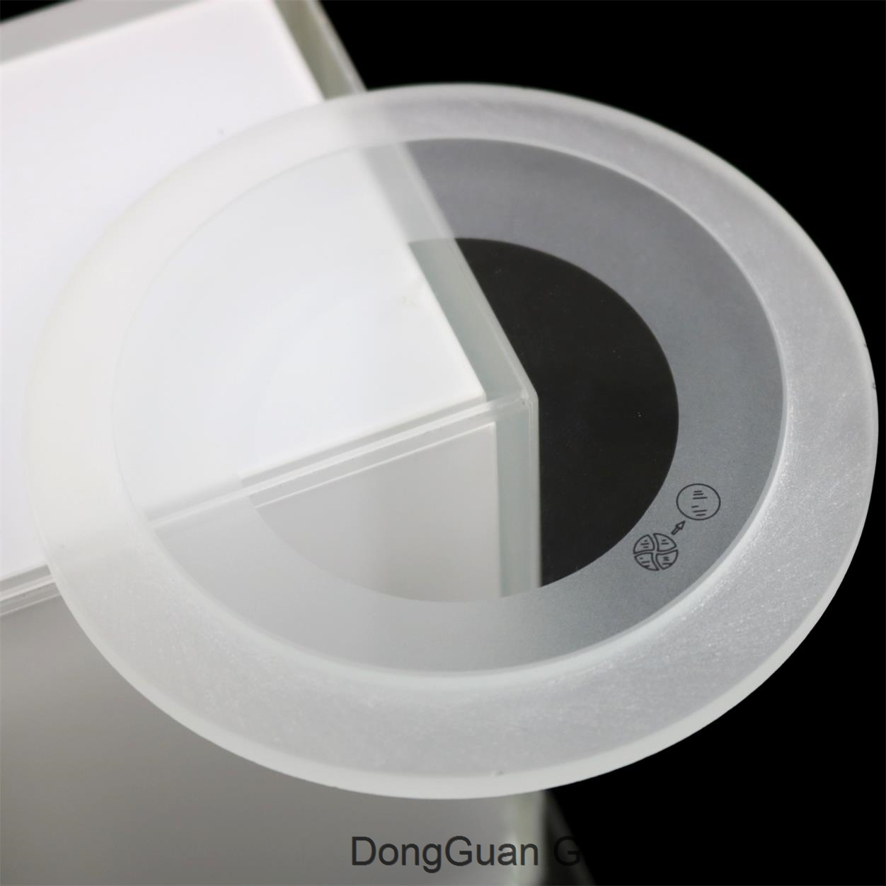 clear tempered step glass lighting cover round glass