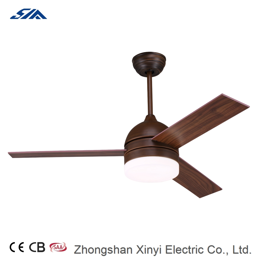 48 inch energy star low power consumption decorative ceiling fan with LED light remote control