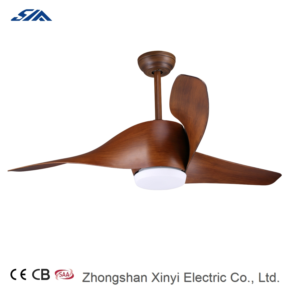 52 inch American style big air flow plastic blade ceiling fan with LED light kit remote control