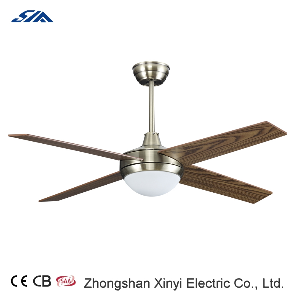 48 inch home decorative wood blade ceiling fan