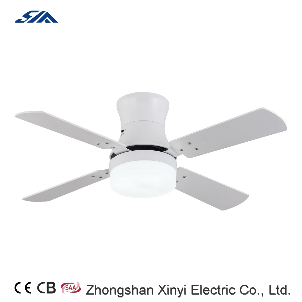 52 inch modern design flush mounted ceiling fan with LED light souce remote control