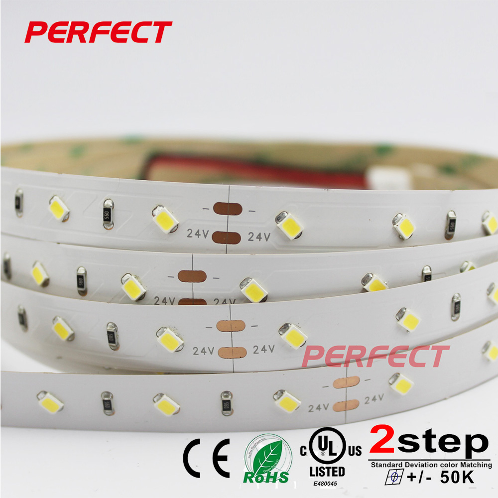 Wholesale smd 2835 led strip with 24V 50led 5m warm pure nature white color