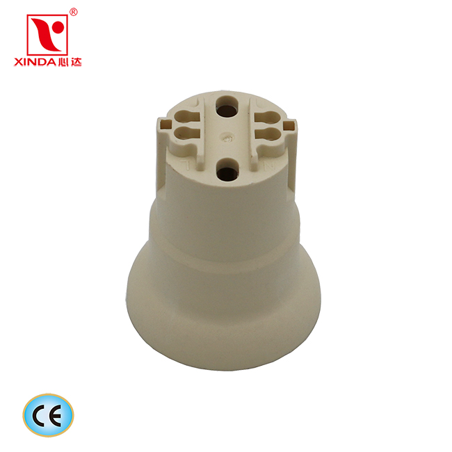 High quality plastic trumpet E27 lamp holder with metal bracket XD