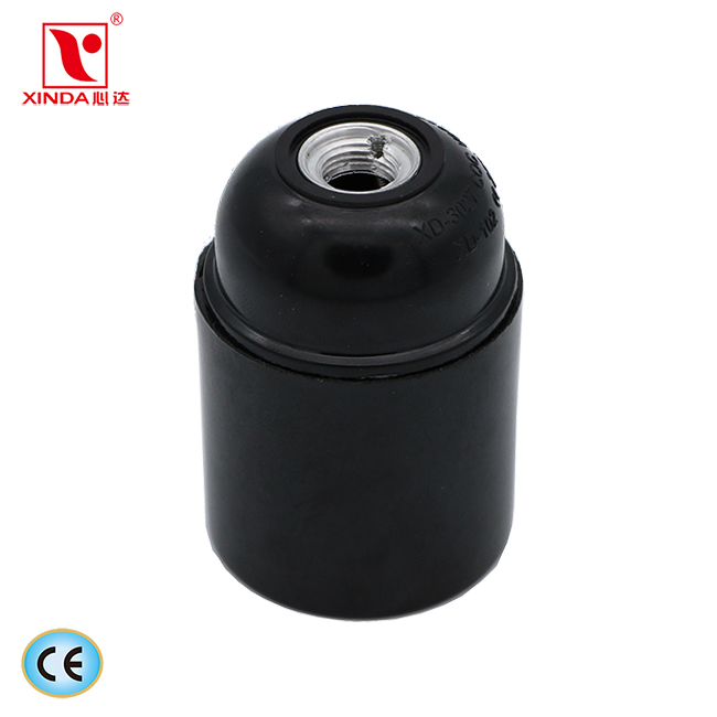 smooth E27 phenolic lamp holder Set-screw terminals