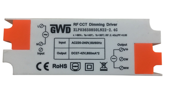 2.4G RF CCT Dimming 20-36W wifi bluetooth remote