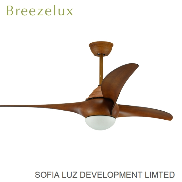 Hot selling power AC DC wood leaves decorative ceiling fan light