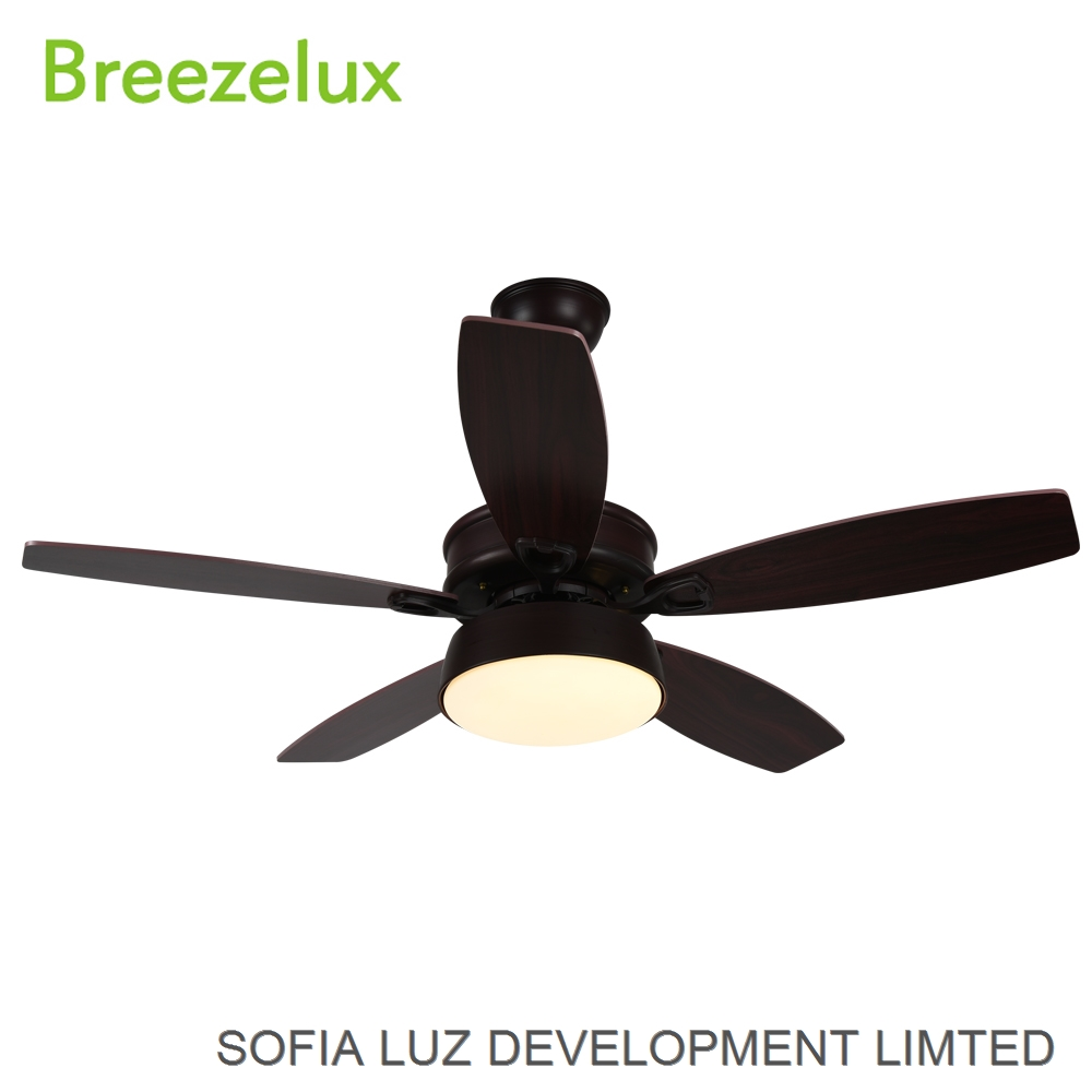 2018 New Products Professional factory Simple 5 Solid Wood Blades Ceiling Fan With Light