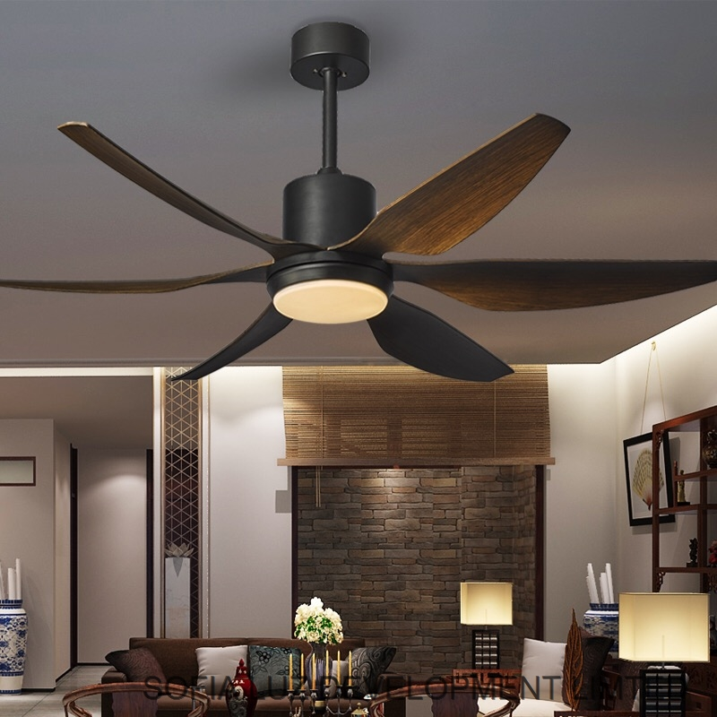 66 inch Power Consumption Modern remote control lighting Ceiling Fans