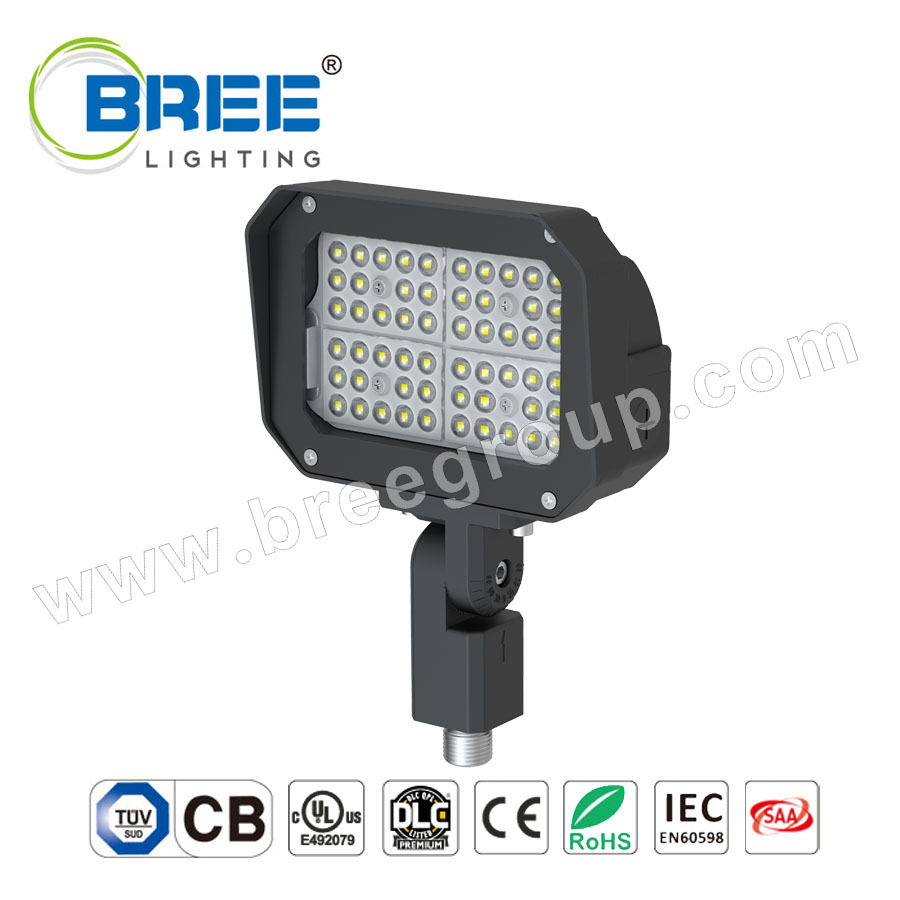 LED Flood Light 50W 180° Adjustable Knuckle Waterproof Outdoor Area Lighting