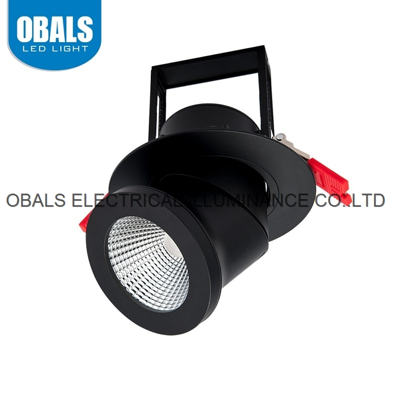 Obals 2700K-6500K CE RoHS COB 25W Energy Saving AC220-240V Led Down Light Black And White Recessed D
