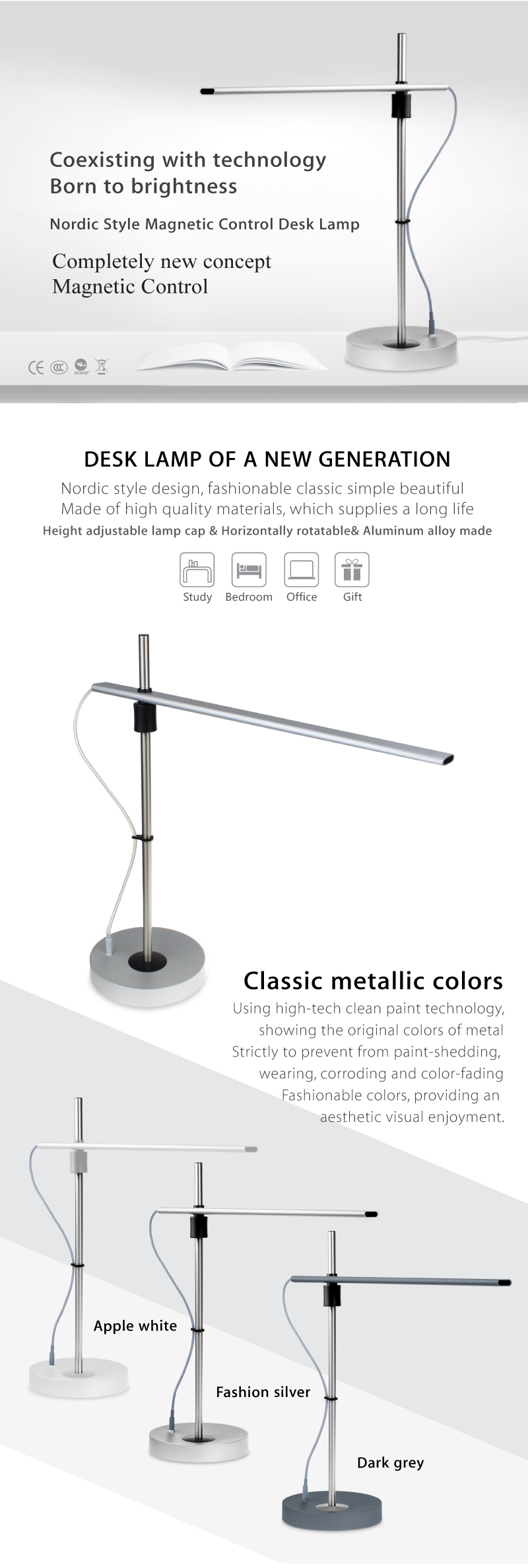 High Adjustable Led Desk Lamp Dongguan Ramcent Electrical
