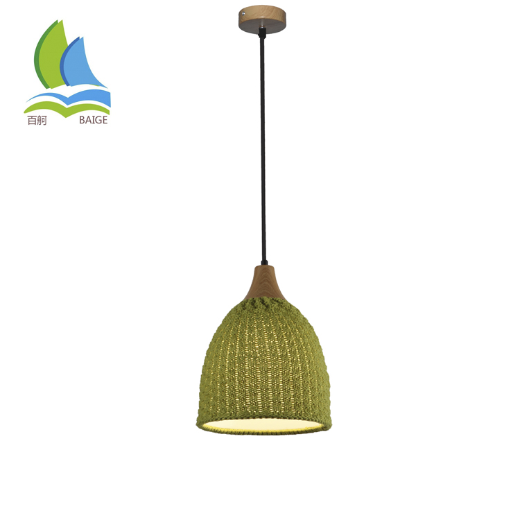 Wholesale Solid Color Wool knitwear Pendant Lamp for Living Room