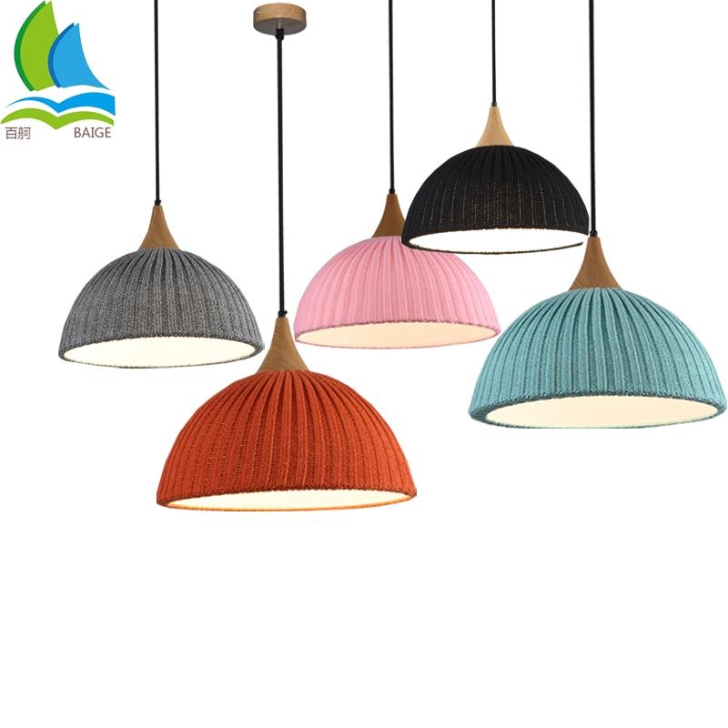 Stylish Custom Braided Wool Modern Pendant Lamps For Home Decor Bars Hotel Store