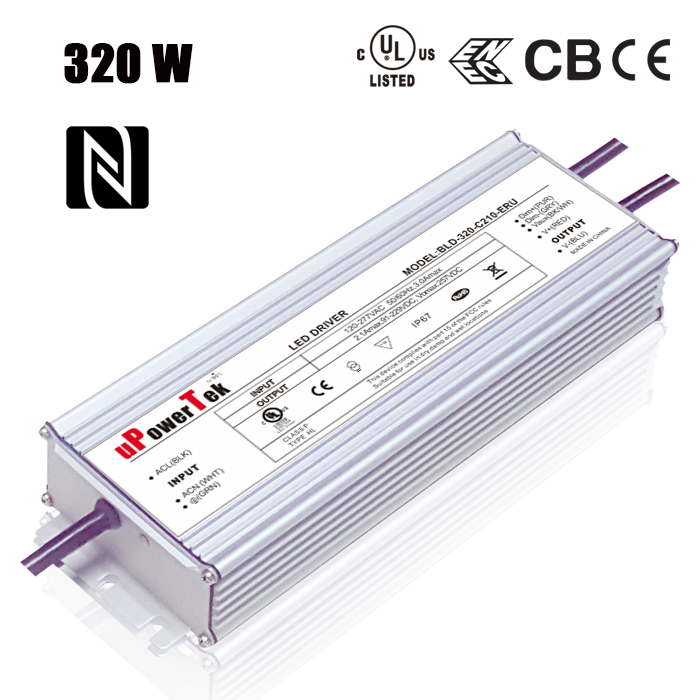 UL Certified IP67 Waterproof LED driver 320W Constant Current LED Driver dimmable