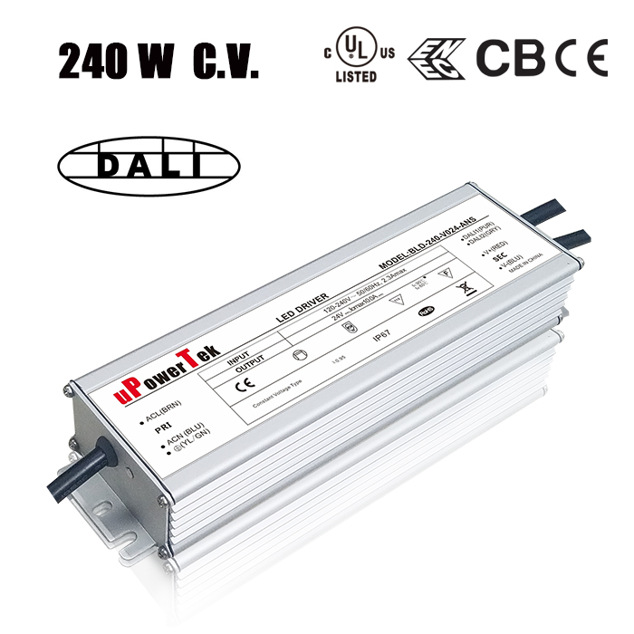 240W IP67 waterproof UL class P 12V LED driver 24V LED power supply