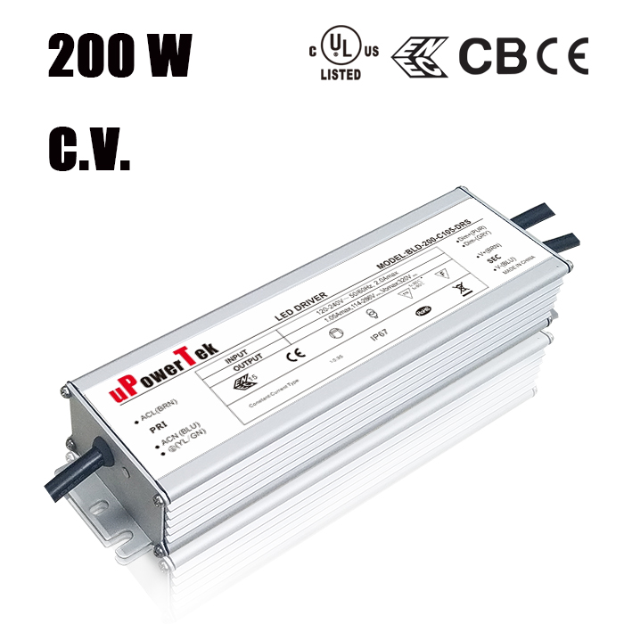 200W power supply IP67 waterproof UL class P 24V LED driver 12V LED power supply