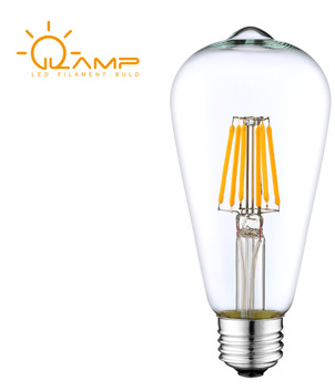 E26 Socket ST19 Antique LED Bulbs Squirrel Cage LED Filament Light Bulbs for Decorate Home Indoor