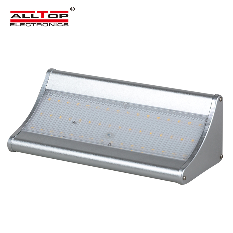Hot sell china supply energy saving aluminum outdoor 6w 8w ip65 solar led wall light