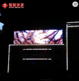 Transparent led media facade Led Commercial Advertising Display Screen