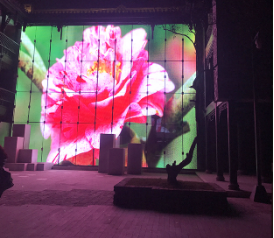 P16 China best video high brightness media transparent led display screen
