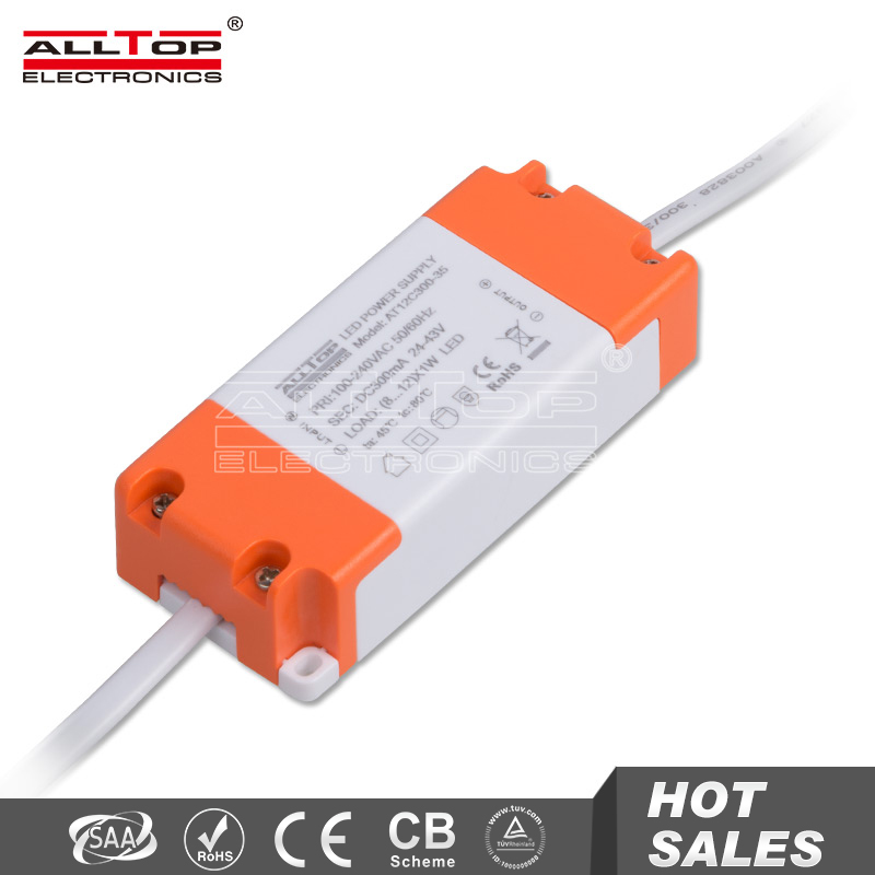 High efficiency 300mA 12W constant current led power supply