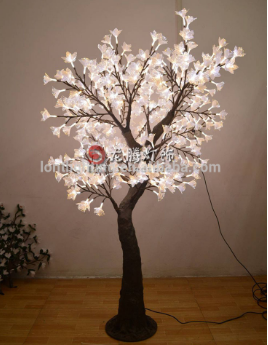 RGB color changing artificial flower lights led christmas tree