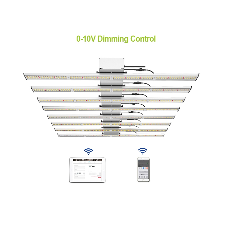 LED Grow Light 8 Bars With Full Spectrum And Bluetooth Wifi For Plants Agricultural Greenhouse PL046