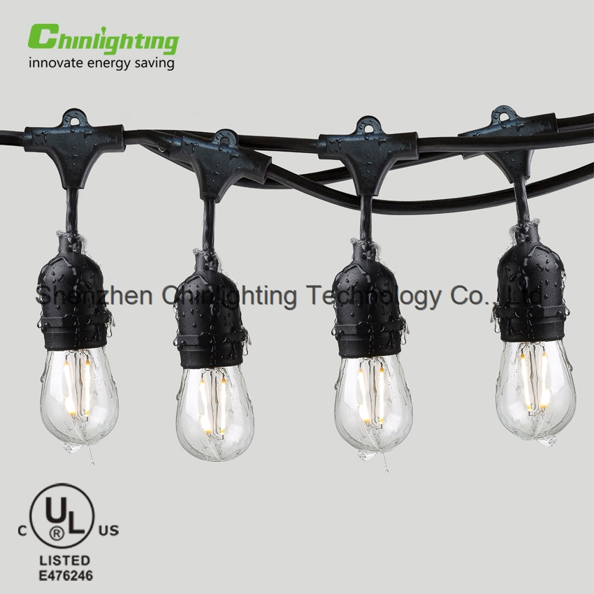 IP65 waterproof garden tree edison S14 filament bulb connectable remote control LED String light