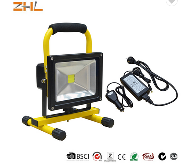 Diamond led COB floodlight with rechargeable