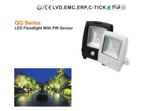 QQ Series LED floodlight with pir sensor