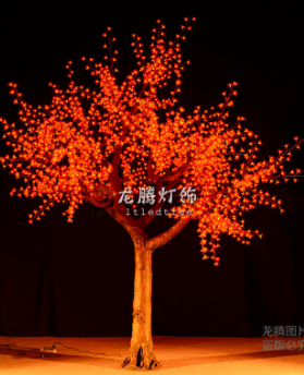 3.8m artificial outdoor led Christmas tree light