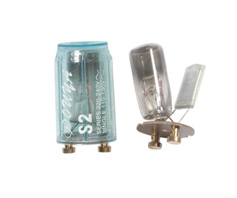 S2 series 110-130v 4-22w 220-240v 4-65W fluorescent starter fluorescent bulb starter PC PP ABS cover