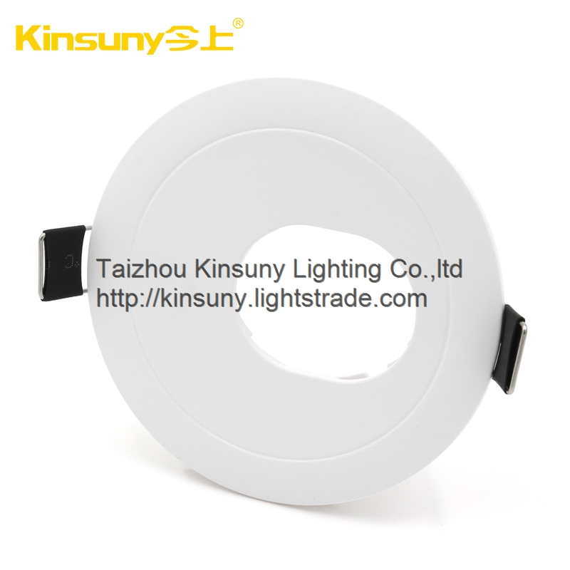 Ceiling cut out size 75mm led down light housing casing mr16 gu10 led recessed light housing
