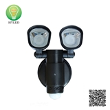 Outdoor double head induction solar LED wall light with motion sensor