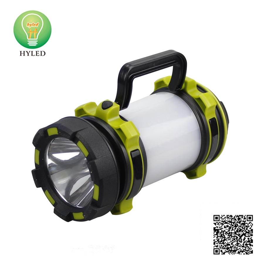 Outdoor 2-in-1 portable LED camping light and work lamp