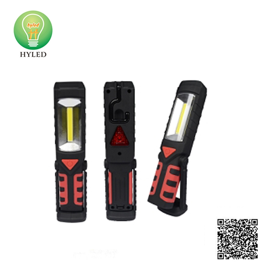 2-in-1 plastic 3W LED work light and LED flashlight