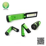 2-in-1 folding plastic 3W LED work light and LED flashlight