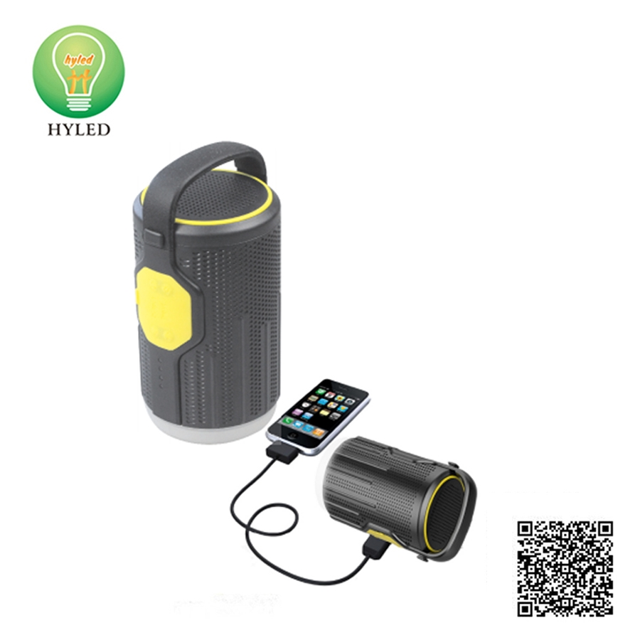 Music bluetooth LED camping light with USB port