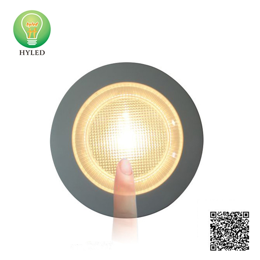 Round shape LED cabinet Light with sensor