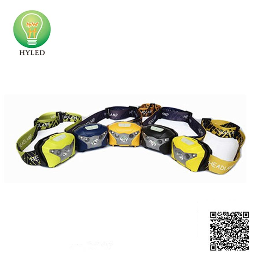 ABS material LED head lamp PIR sensor LED headlight
