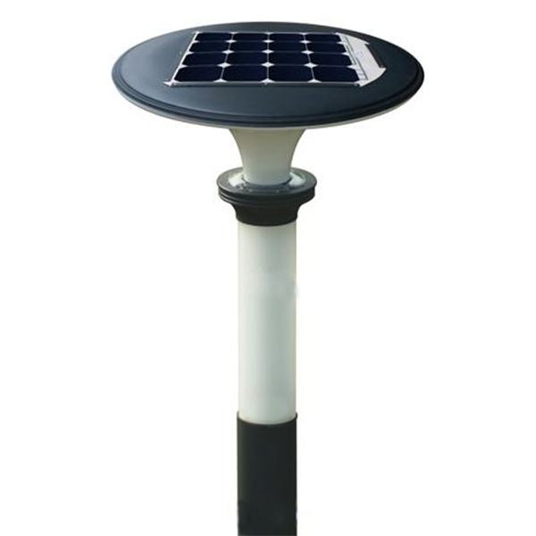 11W LED solar garden light for mushroom design with RGB color charging