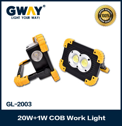 Portable Floodlights Dual COB LEDs Handy Work Lights Flood Lamps for Camping Car Repairing