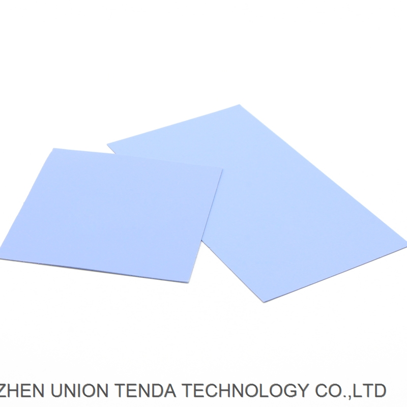 Electronic 0.5 1.0 2.0mm thermal silicone rubber sheet for equivalent Of Bergquist Laird Fujipoly