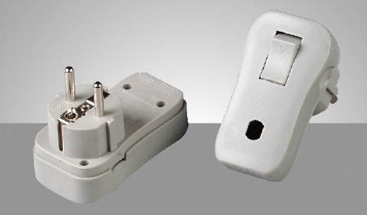 plug with switch germen switch PL-68 TUV approval