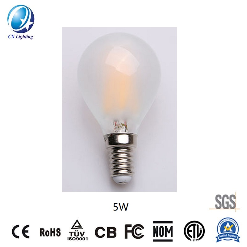 LED Filament Bulb G45 4W E27 B22 600lm Equal 60W frosted with Ce RoHS EMC LVD