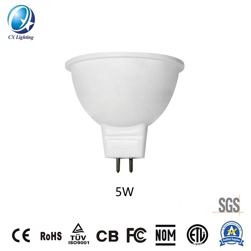 LED Spotlight MR16 5W 450lm for Ceiling Indoor Decorations Beam Angle 60 Degree