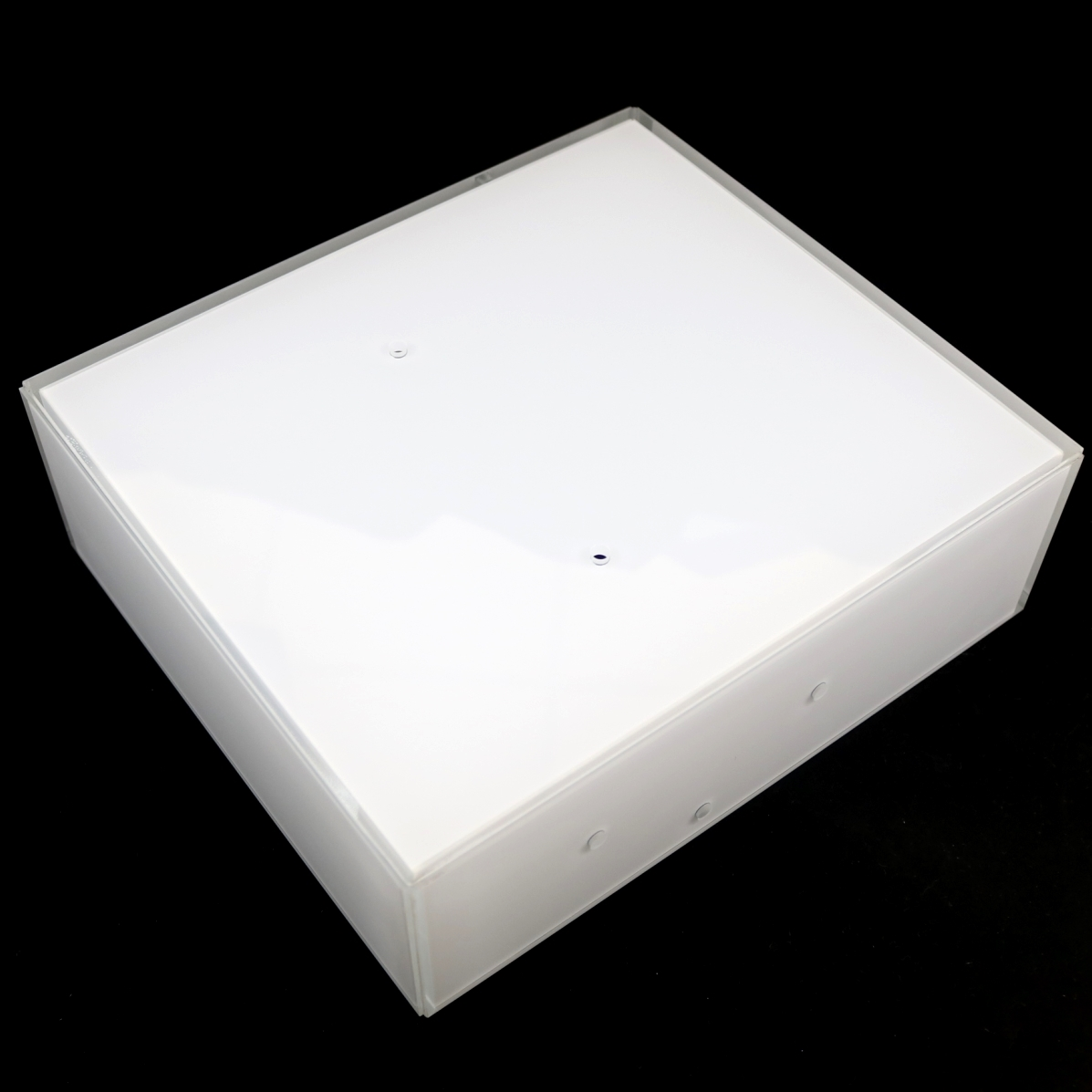 SQUARE FROSTED WHITE GLASS CEILING LAMP SHADE